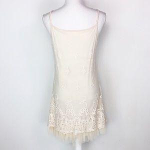 A' Reve Cream Tull Slip Dress
